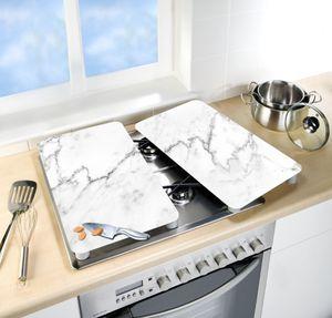 Herdabdeckplatte Universal Marmor