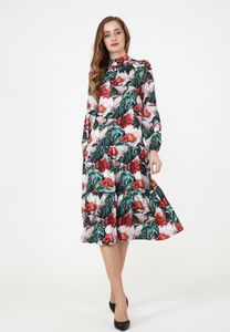 MadaM T Damen Blusenkleid Kleid Paolina