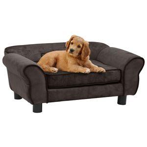 vidaXL Hundesofa Braun 72x45x30 cm Plš¹sch