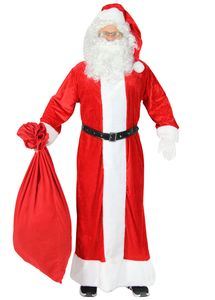 Premium Weihnachtsmann Mantel, Größe M-XXXXL, Größe:XXXL/XXXXL