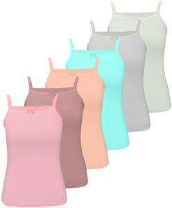 6 Unterhemden Spagettiträger 140-146 (10-11 Jahre)