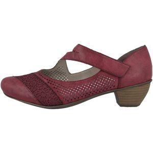 rieker Damen klassische Pumps Rot Schuhe, Größe:41