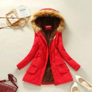 Winterjacke Lang Elegant, Mantel mit Kapuze Damen, Hoodie Warme Mantel Unplattbar Damen Mantel Lang Winter Parka Plüsch Gefütterte M