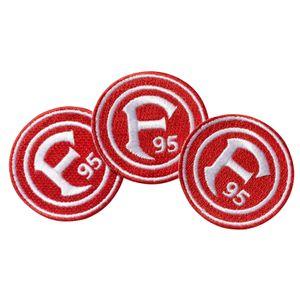 """Fortuna Düsseldorf Aufnäher """"Logo"""" 3er-Set"""