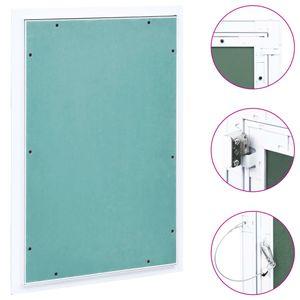 vidaXL Revisionsklappe mit Alu-Rahmen und Gipskartonplatte 300x600 mm