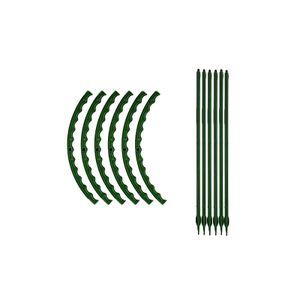 6er Set Pflanzstäbe, Rankhilfe, U-förmige Pflanzenstäbe, Pflanzen Stab, Stäbe Pflanzenstütze, Pflanzhilfe Rankstäbe
