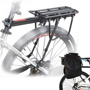 Fahrrad Gepäckträger,Aufgerüstet Einstellbare Mountainbike Gepäckträger MTB Aluminium Hinten Sattelstütz Maximalbelastung 50kg Fahrradträger Racks mit Reflektor,Schnell Spanner und Montierung