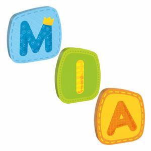 HABA Holzbuchstaben, Name Mia, Buchstaben, Türschild, Wand, Dekoration, Kinderzimmer, Kind, Baby