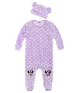 Disney Minnie Babyanzug und Mützchen lila