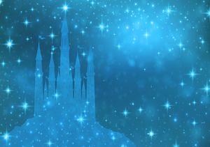 Fototapete Kinderzimmer (254x184cm - 2 Bahnen) Prinzessin Schloss Mädchen Wandtapete Tapete Latexdruck UV-Beständig Geruchsfrei Hohe Auflösung Montagefertig
