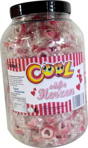 Cool Süße Herzen Rocks Bonbons mit Herzmotiv in Plastikdose 1000g