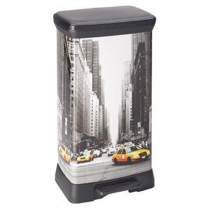 Curver DECO Bin METALLICS 50L, schwarz / New York City