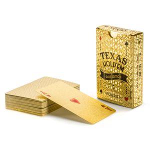 Gold Pokerkarten Spielkarten aus PVC Kunststoff-Karten Poker Plastik Deck wasserdicht goldene Folie Luxus Design