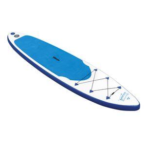 EASYmaxx Stand Up Paddle Board - Paddelboard Wellenreiter aufblasbar - 320 x 76 x 15 cm - weiß/blau