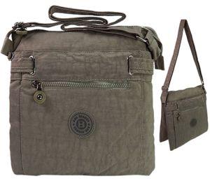 Damen Umhängetasche Nylon Schultertasche Bag Street Tasche Handtasche - Stone