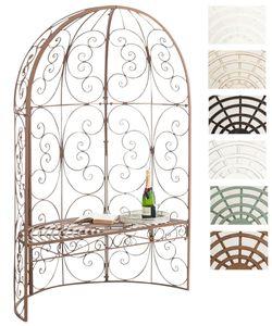 CLP Halbpavillon Rosie mit Sitzbank, Farbe:antik braun