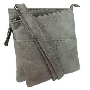 kleine Damen-Tasche Schultertasche Abendtasche Umhängetasche Grau