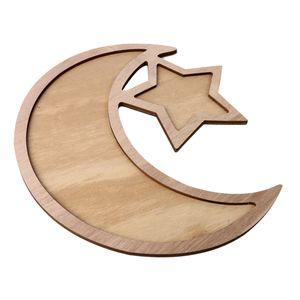 Ramadan Stil Servierplatte Servierteller Serviertablett mit Mond und Stern Form für Dessert Obst Süßigkeiten und andere Nahrungsmittel