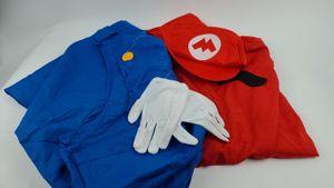 Super Mario Luigi Mütze + Hose + Bart - Kostüm-Set für Erwachsene -  Gr. M