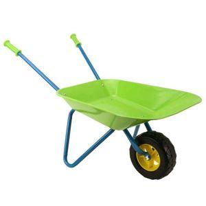 Premium Kinderschubkarre Metall Kinder Schubkarre Grün Blau 40x78x38cm Garten Spielzeug