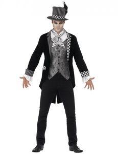 Herren Kostüm dunkler Hutmacher Gentleman Halloween Karneval Gr.XL