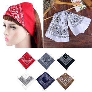 6 Stü Bandanas mit Paisleymustern, Nickituch Halstuch 100% Baumwolle Headwear Haar Schal Kopf Bindung
