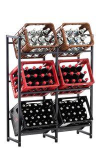 CLP Getränkekistenständer Lennert, Farbe:schwarz, Größe:XL