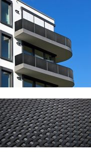 Polyrattan PVC Sichtschutz Matte 300x90 Balkon Zaun Windschutz anthrazit