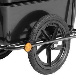 Fahrradanhänger mit 90L Kunststoffwanne inkl. Kupplung - Lastenanhänger Transportanhänger Anhänger Handwagen