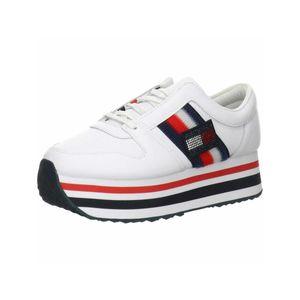 Tommy Hilfiger Damen Sneaker Sneaker Low Lederkombination weiss 39