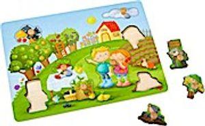 Haba form Puzzle Obstgarten 9-teilig