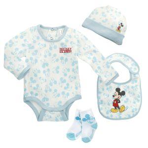 Baby-Geschenk-Set Mickey Mouse 75544 Hellblau Weiß (5 Pcs)
