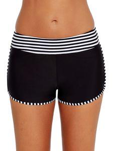 Sexydance Damen Swim Boardshorts Tankini Bottom Bikini Sport Yoga Bademode Hosen,Farbe:Schwarz,Größe:M