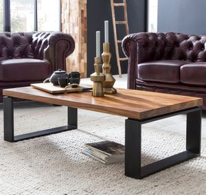 Couchtisch WL5.650 Sheesham 115x35x60 cm massiv Holz