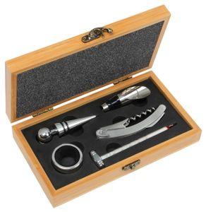 5 tlg Weinset Weinthermometer,Tropfringe,Kellnermesser,Ausgießer,Verschluss BWI