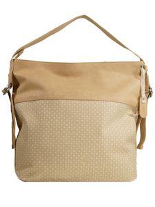 Esprit Damen Handtasche Tasche Henkeltasche Riley Hobo Beige