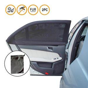 2nd Generation Universal  Baby-Sonnenblende für das Autoseitenfenster - einlagiges Design -maximale Sicht - passt auf die meisten Autos - 2 Stück