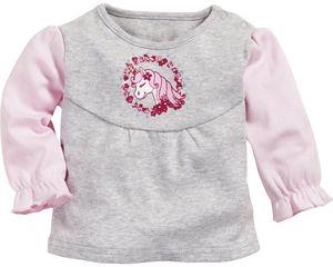 Playshoes Schnizler T-Shirt Einhorn Mädchen grau/rosa Größe: 74