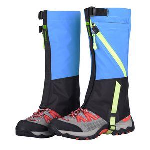 Kinder wasserdicht Outdoor Wandern Wandern Klettern Ski Schnee Bein Gamaschen blau
