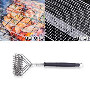 BBQ Pinsel Sauber Werkzeug Grill Grill Edelstahl Draht Borsten Nicht-stick Reinigung Pinsel Mit Griff Durable Kochen Zubehör