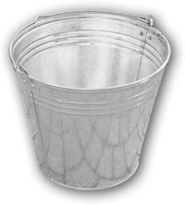 Eimer verzinkt 15 Liter Baueimer Zinkeimer Garteneimer Abfalleimer Wassereimer