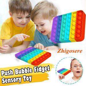 2 Stk POP IT! Sensorisches Zappelspielzeug, Push Pop Pop Bubble Toys Sensorisches Spielzeug Stress Reliever Sensorikspielzeug für Autismus Lernspielzeug für Kinder