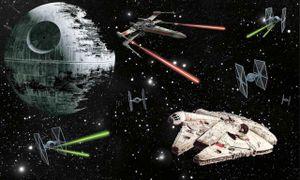 Fototapete Star Wars Todesstern Millenium Falke