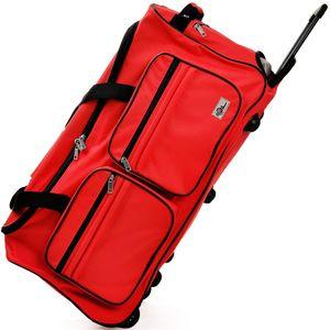 DEUBA® Reisetasche Sporttasche Reisekoffer Trolley Tasche Gepäcktasche 85-160 Liter, Farbe:orange