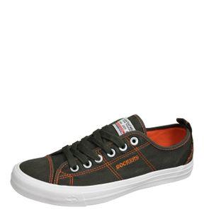 DOCKERS by Gerli Herren Sneaker Washed Canvas Schuhe Khaki, Größe:EUR 45