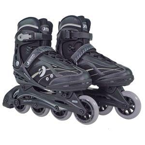 Best Sporting Inline Skates für Teenager + Erwachsene, verstellbar, ABEC 7 Carbon, schwarz, Größe:45 - 46