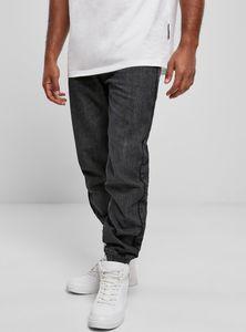 Southpole - Herren Denim Loose Fit Pants ACID WASHED BLACK W30/L32