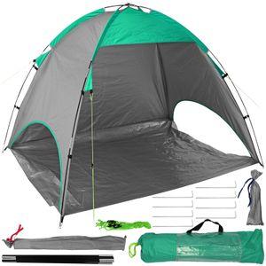 Strandmuschel UV-Schutzfaktor 50+ Grün Sonnenzelt Strandzelt inkl. Tragetasche Sonnenschutzzelt Sichtschutz