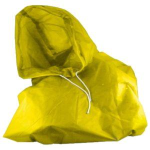 2 Stück Fahrrad Regenponcho ( Gelb ) mit Kaputze Regenjacke Regen Poncho Unisex Regencape Jacke