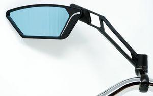 Luxus Rückspiegel mit Sicherheitsglas und Antireflexbeschichtung Lenker Spiegel für Pedelec Fahrrad E-Bike Speed Pedelecs